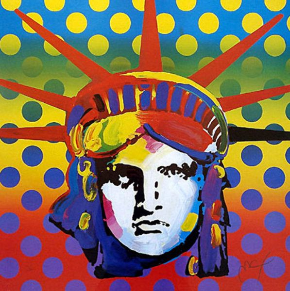 """Limited Edition Print """"Liberty 2003"""" by Peter Max"""