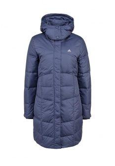 Пуховик adidas Performance, цвет: синий. Артикул: AD094EWDKP73. Женская одежда / Верхняя одежда / Пуховики и зимние куртки