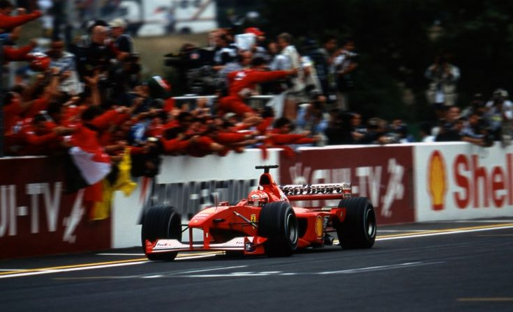 Suzuka, October 2000: Michael Schumacher clinched Ferrari's first drivers' title in over 20 years in Japan.