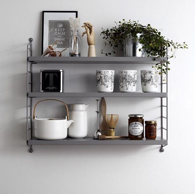 die besten 25 string regal ideen auf pinterest. Black Bedroom Furniture Sets. Home Design Ideas
