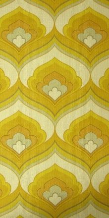 vintage wallpaper  Bianca Barrett onto For the Home: Vintage Wallpapers, Yellow Wallpapers, Wallpapers Bianca, Wallpapers Patterns, For The Homes, 70S Wallpapers, 70S Fabrics, Bianca Barrett, 70S Themed