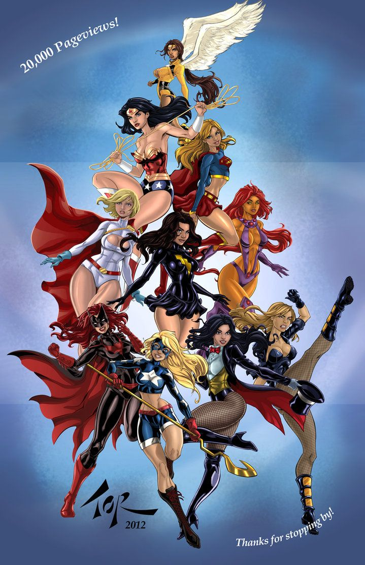 Heroines of the DC by *torsor