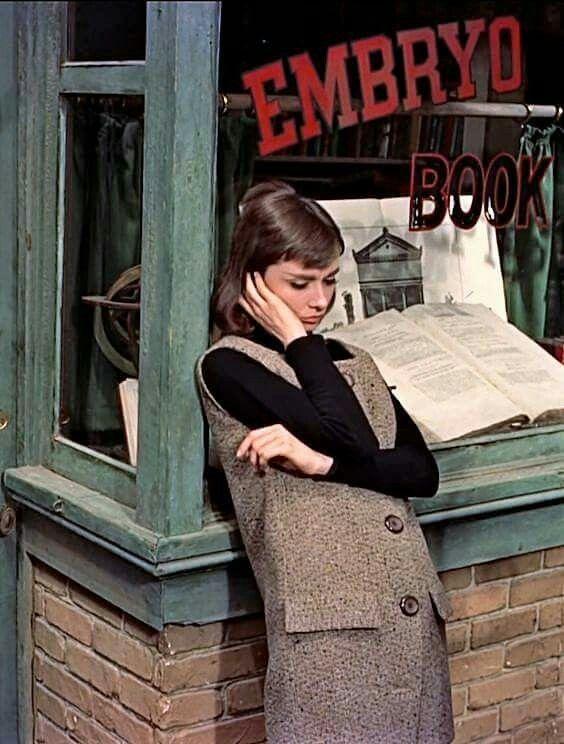 "Audrey Hepburn, from director Stanley Donen's ""Funny Face""."