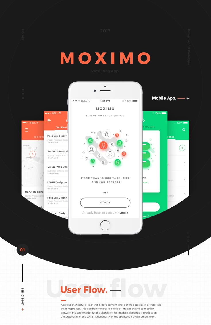 Moximo. Recruiting app. on Behance