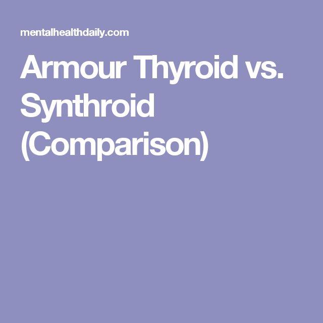 Armour Thyroid vs. Synthroid (Comparison)