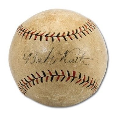 #OnThisDay in 1919 the @yankees and @redsox reach an agreement on the transfer of Babe Ruth.  This Babe Ruth autographed 1914-19 Heydler ONL baseball is 100% authentic and comes with a PSA/DNA Certification Card and a matching numbered Hologram.  Available on ShopPressPass.com