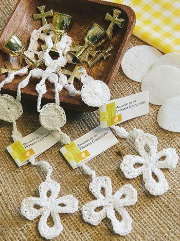 08 - Cruz Primera comunión - Crochet Souvenirs