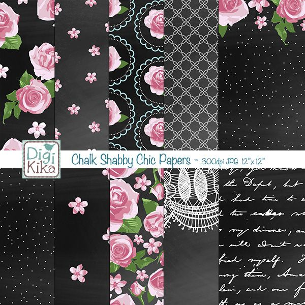 This Chalk Shabby Chic Digital Papers pack includes 10 gosrgeous digital scrapbook papers. This Christmas papers set is suitable for scrapbook, card design, invitation making, stickers, jewelry, paper crafts, web design, and a lot more.