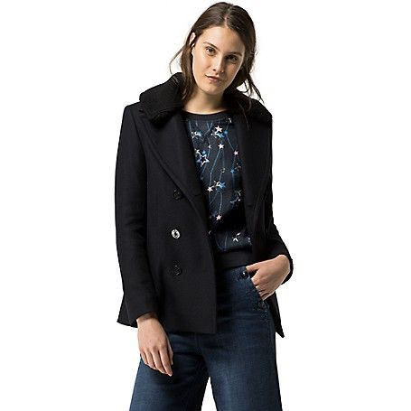Tommy Hilfiger women's coat. We've added a few flourishes to the traditional…