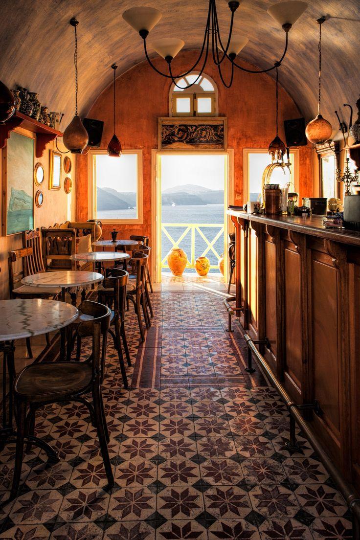 Cafe in Oia, Santorini, Greece