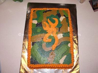 Browning Camouflage Birthday Cake idea