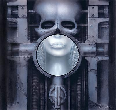 Brain Salad Surgery - HR Giger  A gatefold album, that revealed another painting when opened.