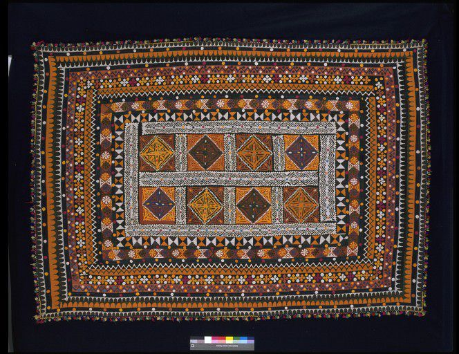 Embroidered cotton quilt, Pakistan, 20th century. l Victoria and Albert Museum #Quilting
