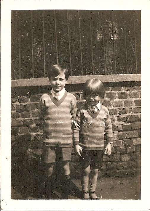My uncle Bert and his brother Ronnie, my dad. Abt 1930.