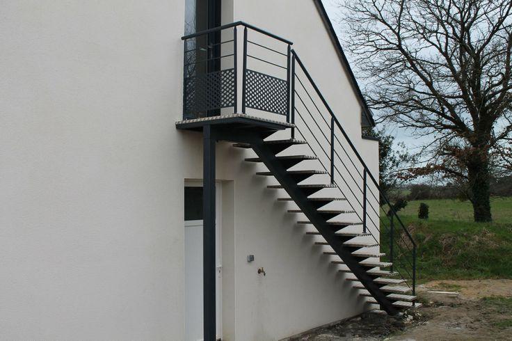 Escalier ext rieur escalierspotier en ext rieur pinterest for Escalier helicoidal exterieur