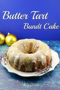 Butter Tart Bundt Cake | Foodmeanderings.com Butter Tart filling is swirled into this delicious butter tart cake, then it's smothered in a creamy brown butter maple glaze. A delicious butter tart in the form of a cake! The perfect dessert for your Christmas dinner! #buttertart #bundt #cake #dessert #canadian #canada #canada150 #maple #brownbutter