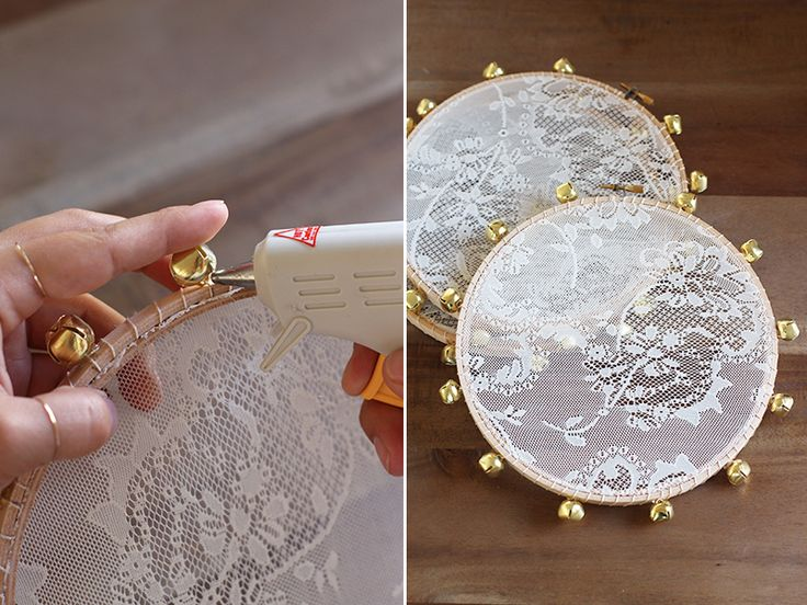 I wish I can say I thought of this idea. But really, it was this creative bride and her stunning wedding that inspired these handmade lace tambourines. The timing of the discovery could not have been more ideal since my dear friends were getting married a few weeks later. I thought they would be