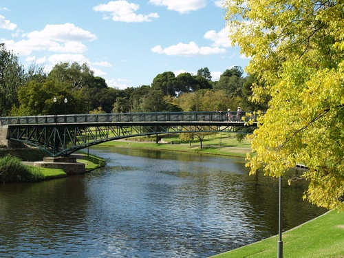 The Footbridge Between the University of Adelaide and its Sports Ovals