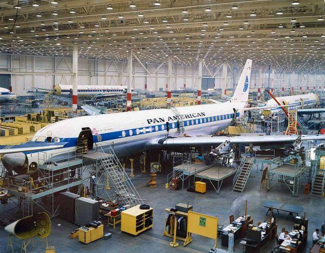 Douglas DC-8 production line | Flickr - Photo Sharing!
