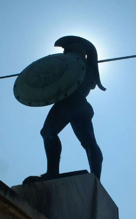 The Battle of Thermopylae - King Leonidas, 300 trained Spartans, and several thousand of the united civilian armies of ancient Greece stand in the way of an army of millions.  It does not get much more heroic than that.