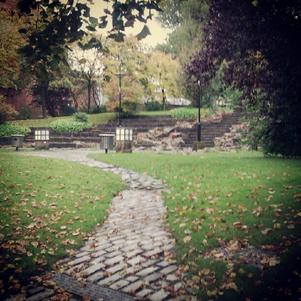 Glasgow City Centre Walk through Park
