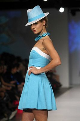 David Dunkley Fine Millinery for Pat Mcdonagh - Fashion Week / www.DavidDunkley.me