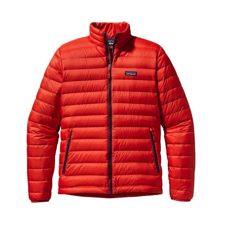 NWT Mens Red Patagonia Down Sweater Puff Jacket 800 fill Goose Size XXL