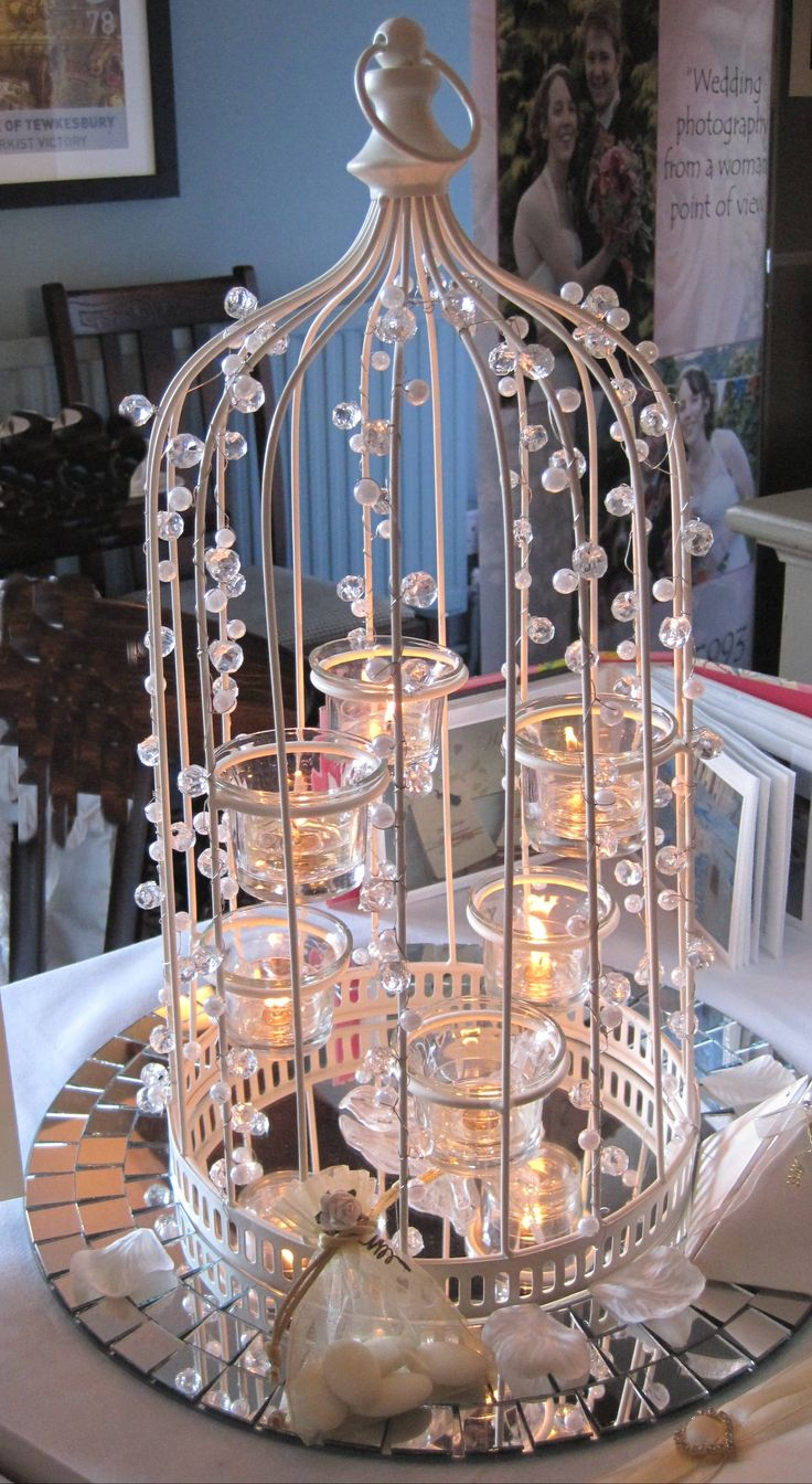 Beautiful birdcage centrepiece