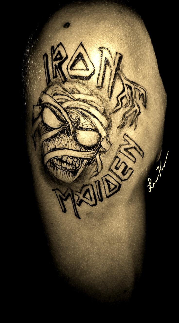 IRON MAIDEN tribute sharpie tattoo | My Sharpie Tattoos ... | 736 x 1323 jpeg 314kB