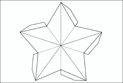 3d Star Cut Out Template Silhouette Ideas Paper
