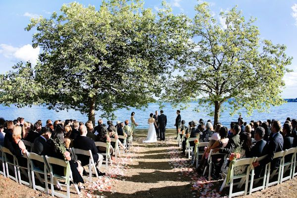 this is exactly what i want! outdoor lake wedding
