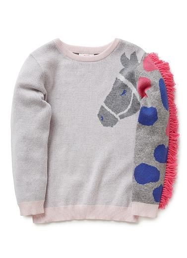 Girls Knitwear & Jumpers | Novelty Horse Sweater | Seed Heritage