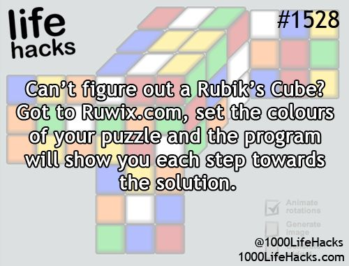 1000 Life Hacks ^^ now all i need is a rubiks cube
