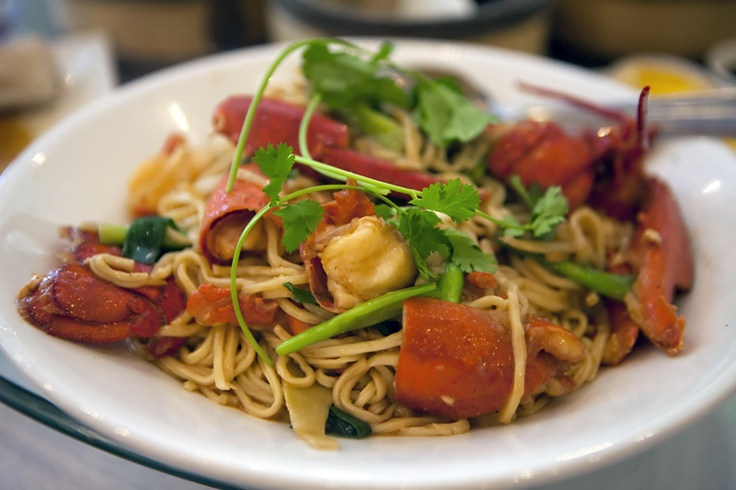 Lobster Noodles (Yee Mein) served at Imperial Garden Restaurant. # ...