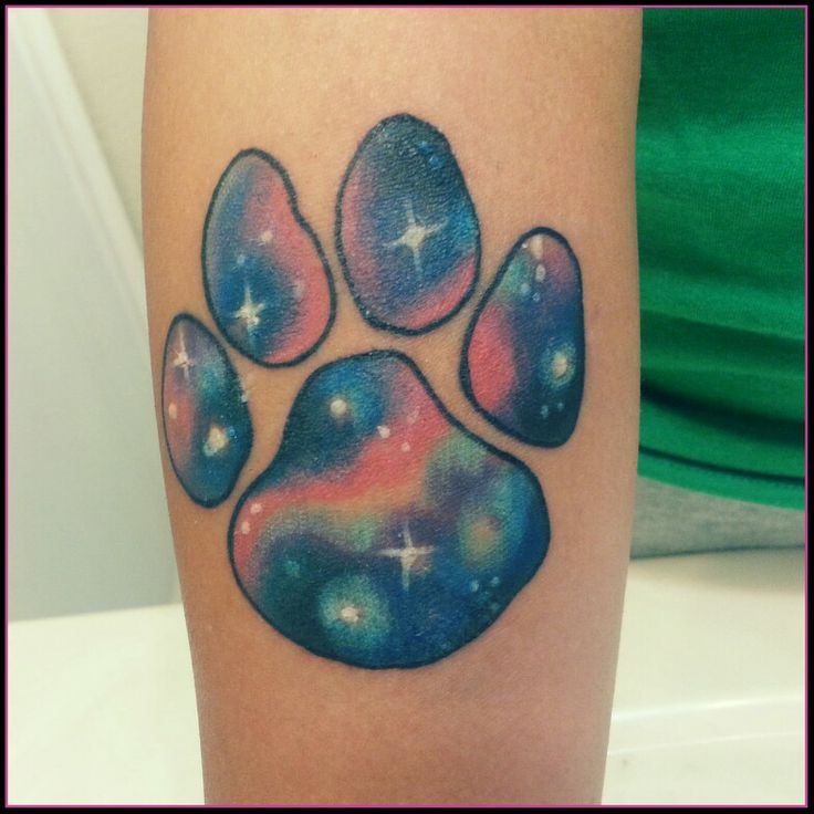 dog pawprint paw print galaxy tattoo gnarly tattoos