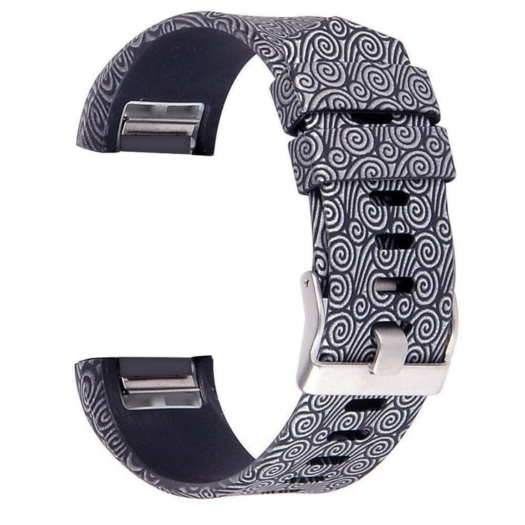 RedTaro Replacement Elastomer Wristband for Fitbit Charge 2, Large (6.5-9.0)-Inches, 202 - Silver Gray