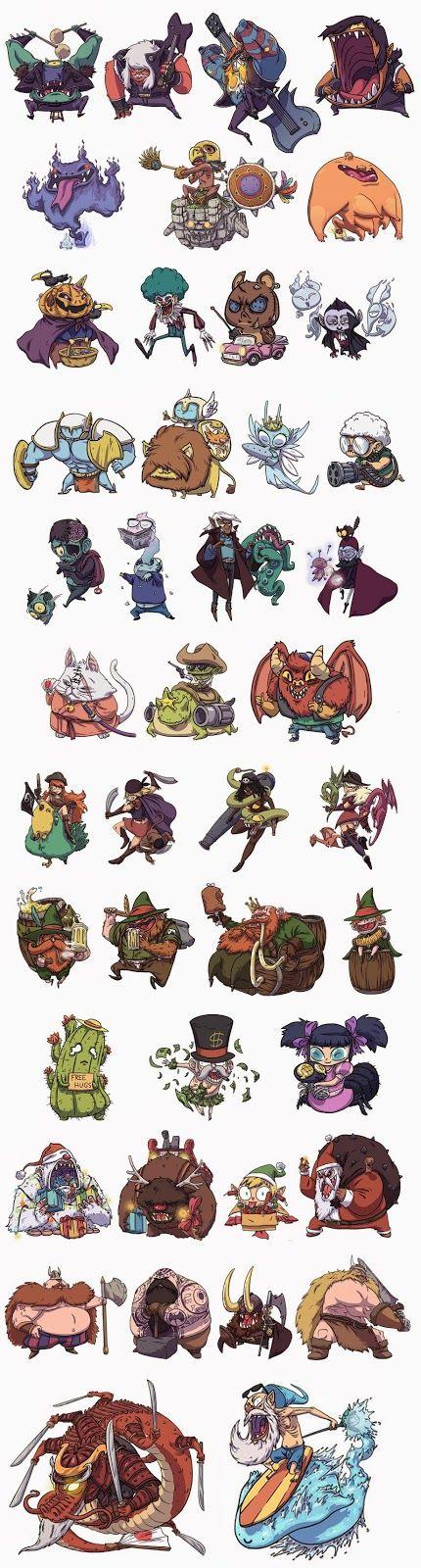 Diseño de personajes para juego de cartas | Jonatan Cantero                                                                                                                                                                                 Más