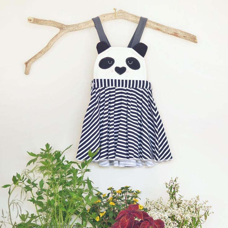 Sklep internetowy Lady Stump   Sukienka z szelkami Panda