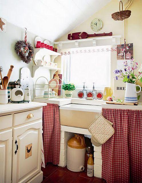 decoracao cozinha fofa : decoracao cozinha fofa:Cozinha sem armário, muito fofa!
