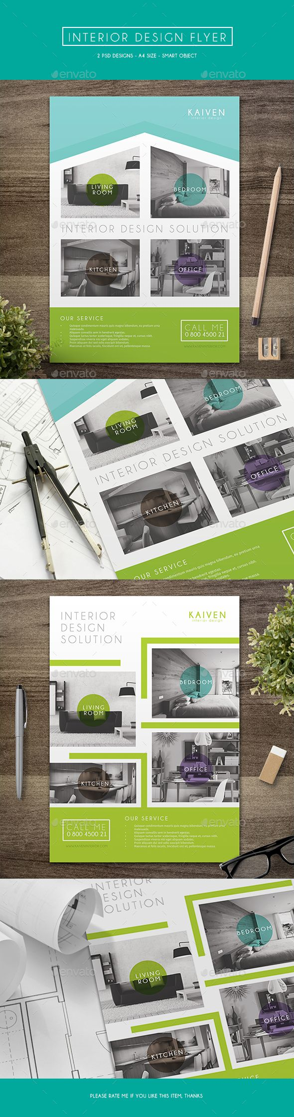 Interior Design Flyer Template PSD #design Download: http://graphicriver.net/item/interior-design-flyer/14144086?ref=ksioks