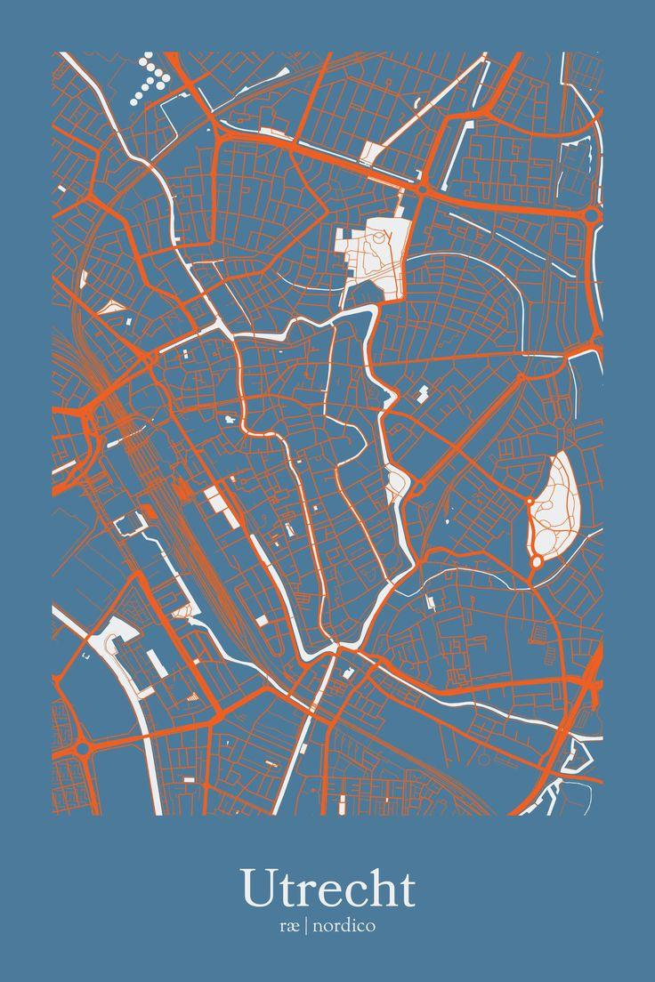 Utrecht Netherlands Map Print 42 best Netherlands