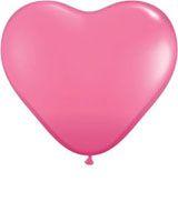 """Μπαλόνια Λάτεξ Καρδιά 15"""" Rose /50 τεμ"""