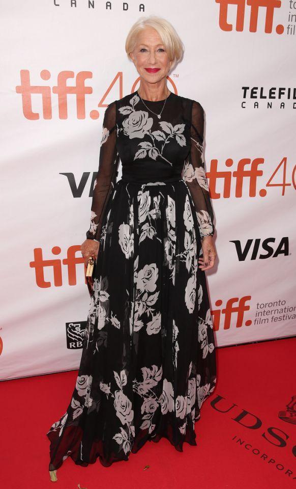 Helen Mirren in Valentino.