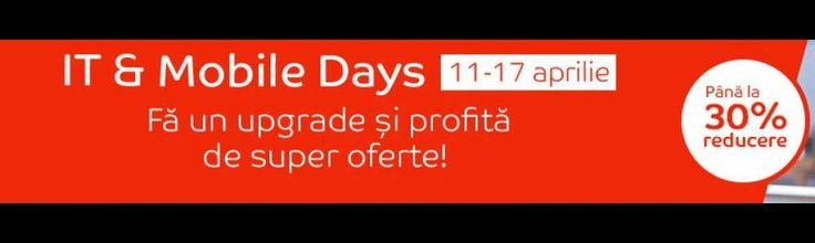 Reduceri IT & Mobile Days la eMAG
