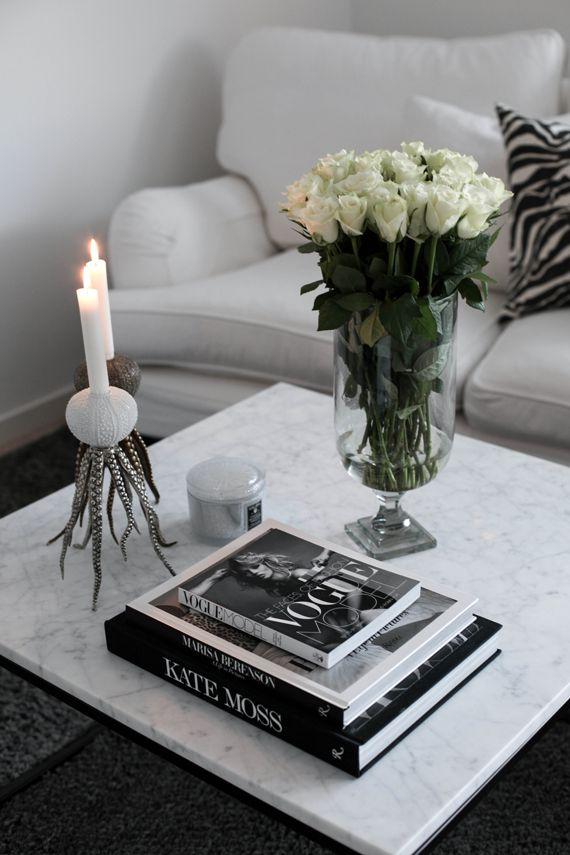 Fredagsblommor från hjärtat mitt! (Den vackra höga vasen är från Homenord) Tjingeing igen! ...