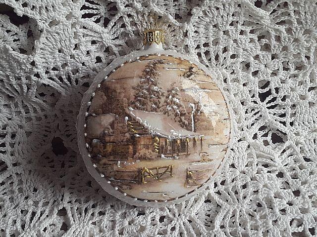 Christmas Ball, decoupage JoannaY.