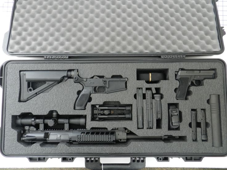 Custom Gun Cases. A Boyt case with custom foam for a Sig Sauer P229 and Sig 716  #customfoam #customguncases
