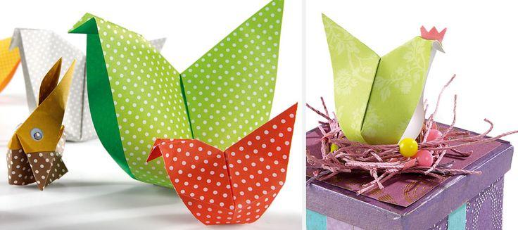 Origami : la poule