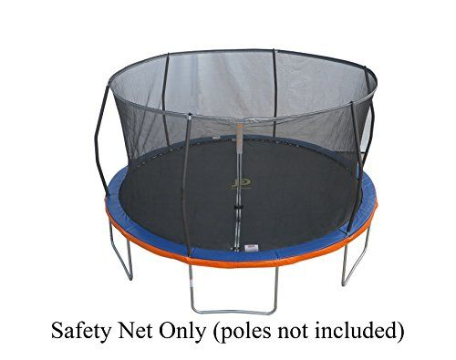 Trampoline Part Store 15 Replacement Trampoline Safety Net  Fits Sams Club Model Tr156comflx with 6 Curvedpole Ring Enclosures Net Only  Poles  Trampoline NOT Included ** You can find more details by visiting the image link.