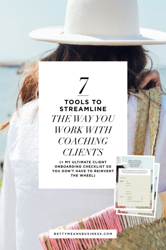 7 tools to help you streamline the way you work with coaching clients!